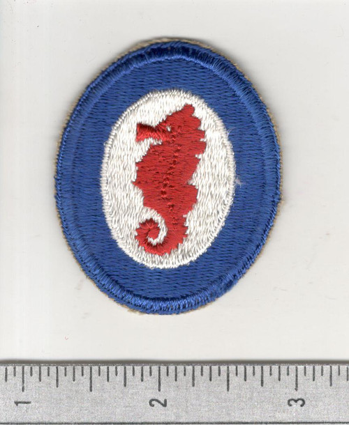 WW 2 US Army Engineer Special Brigade Wide Blue Border Patch Inv# C139