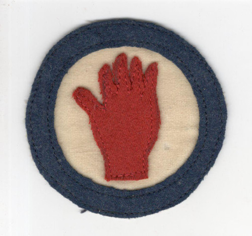 "2-3/4"" WW 1 US Army 93rd Division Patch Inv# Q239"