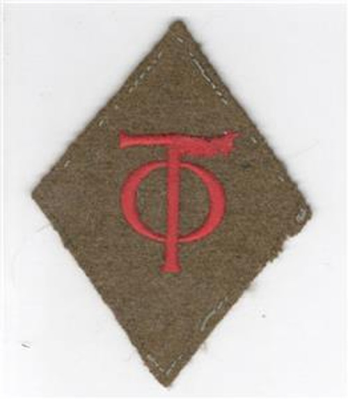 """WW 1 US Army 90th Division 3-1/4"""" X 2-3/4"""" Patch Inv# Q329"""