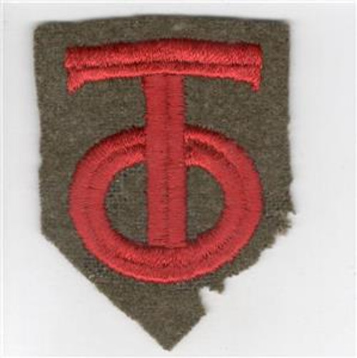"""20's - 30's US Army 90th Division 2-3/4"""" X 2-1/8"""" Patch Inv# Q350"""