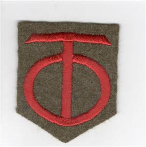 "20's - 30's US Army 90th Division 2-1/2"" X 2"" Patch Inv# Q351"