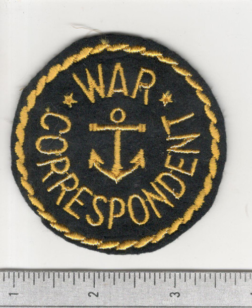 WW 2 US Navy War Correspondent Patch Inv# C147