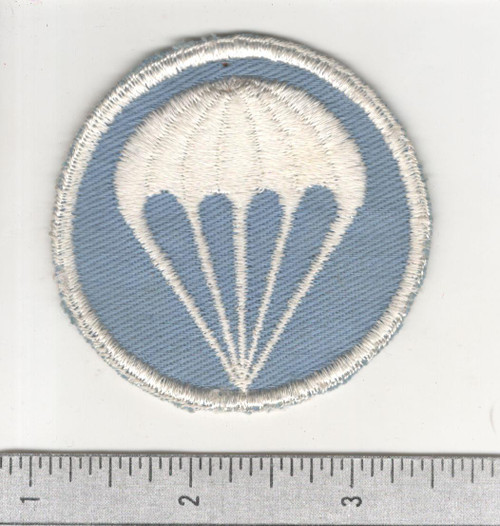 "2-5/8"" HTF Oversize WW 2 US Army Paratroops Cap Patch Inv# C157"