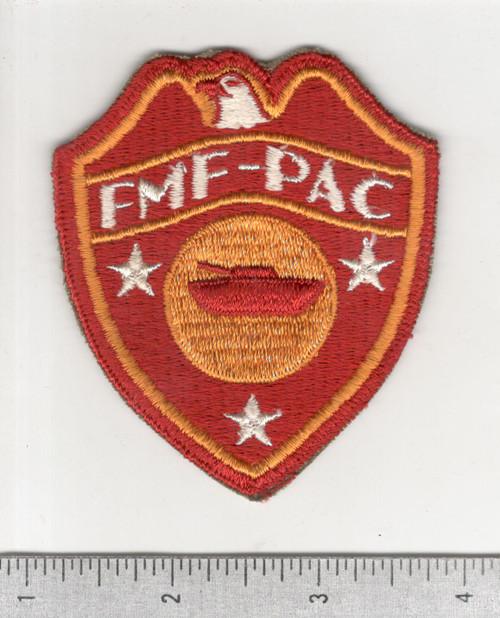 WW 2 USMC FMF-PAC Tanks / Tractor Battalion Patch Inv# C172