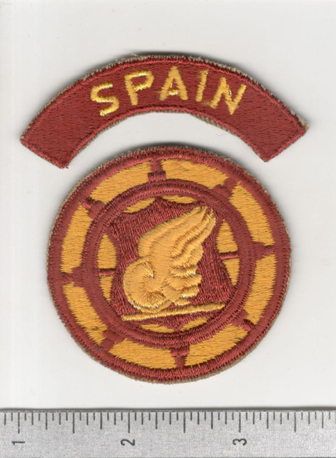 US Army Transportation Terminal Command Patch & SPAIN Tab Inv# C233