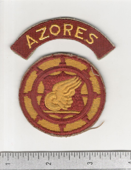 US Army Transportation Terminal Command Patch & AZORES Tab Inv# C235