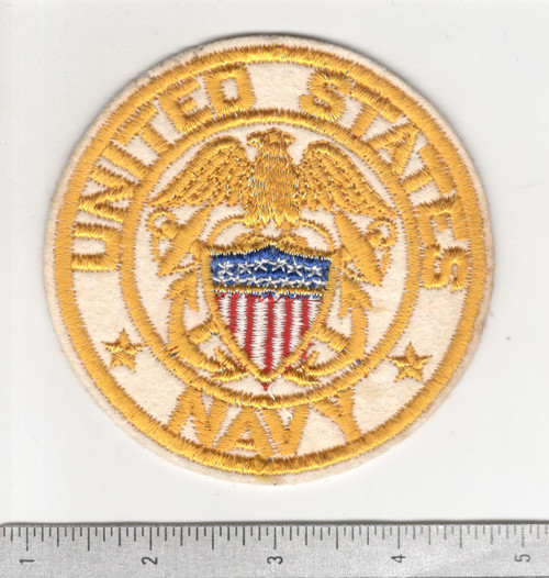 "4"" WW 2 US Navy Wool BX Patch Inv# C255"