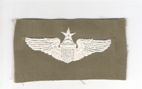 """WW 2 US Army Air Force Cloth Senior Pilot 3"""" Wings Patch Inv# P332"""