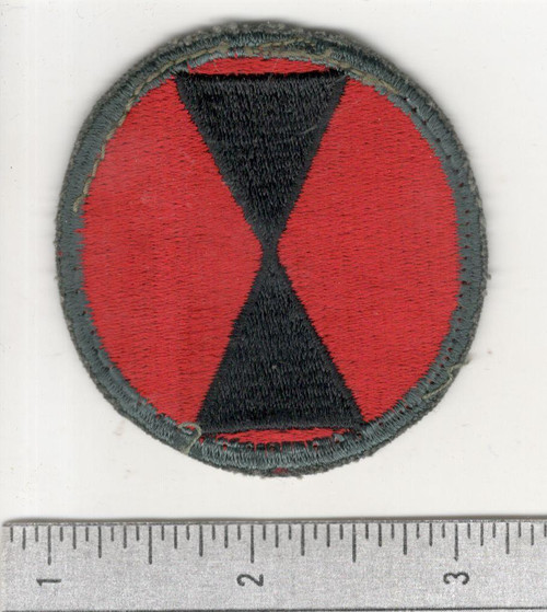 50's Cut Edge No Glow 7th Infantry Division Patch Inv# C303