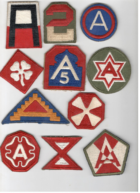 US Army Patch Lot Of 11 Armies Patches Inv# B428