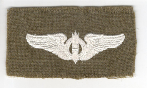 """WW 2 US Army Air Force Cloth Bombardier 3"""" Wings Patch Inv# P367"""