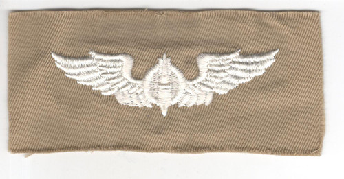 """WW 2 US Army Air Force Cloth Bombardier 3"""" Wings Patch Inv# P370"""
