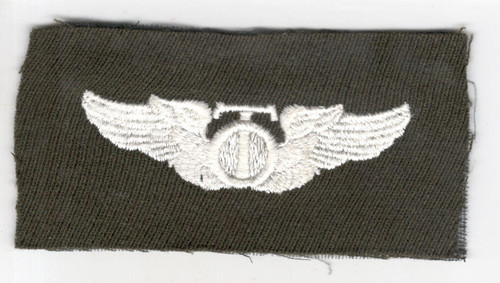 """WW 2 US Army Air Force Cloth Technical Observer 3"""" Wings Patch Inv# P383"""