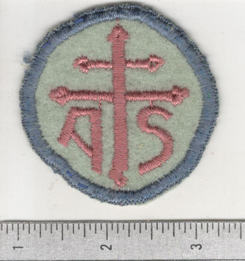 WW 1 US Army Advanced Section Services Of Supply Quartermaster Patch Inv# W609