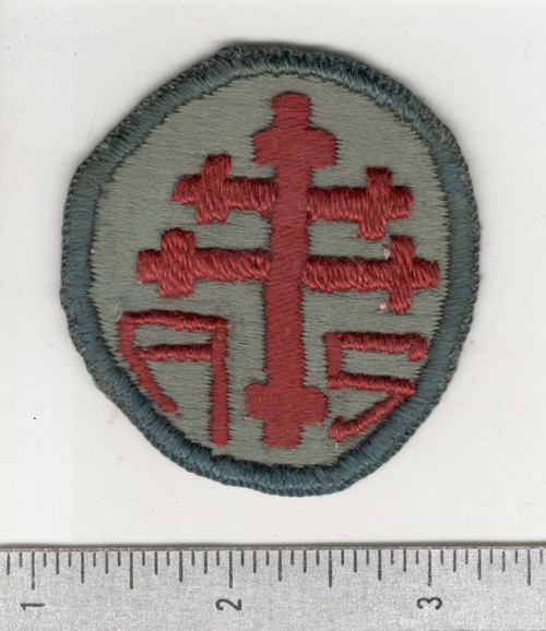 WW 1 US Army Advanced Section Services Of Supply Quartermaster Patch Inv# W625
