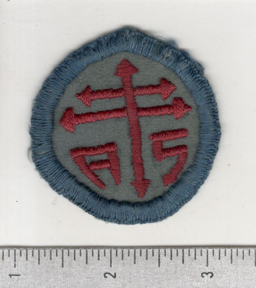 WW 1 US Army Advanced Section Services Of Supply Quartermaster Patch Inv# W626