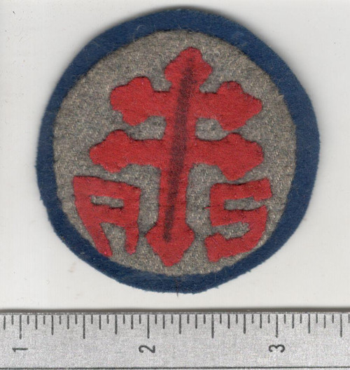 WW 1 US Army Advanced Section Services Of Supply Quartermaster Patch Inv# W640