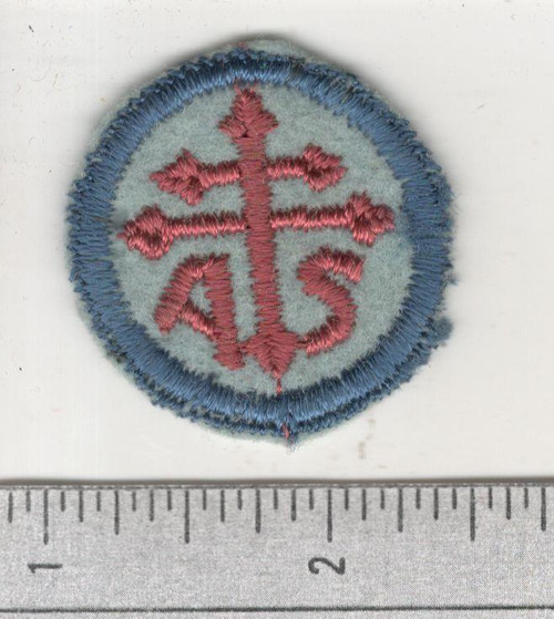 WW 1 US Army Advanced Section Services Of Supply Quartermaster Cap Patch Inv# W648