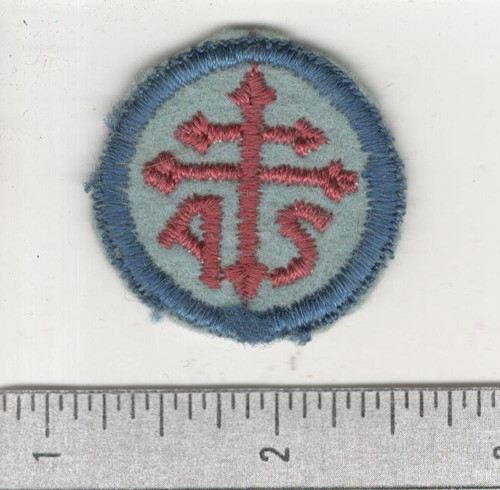 WW 1 US Army Advanced Section Services Of Supply Quartermaster Cap Patch Inv# W649