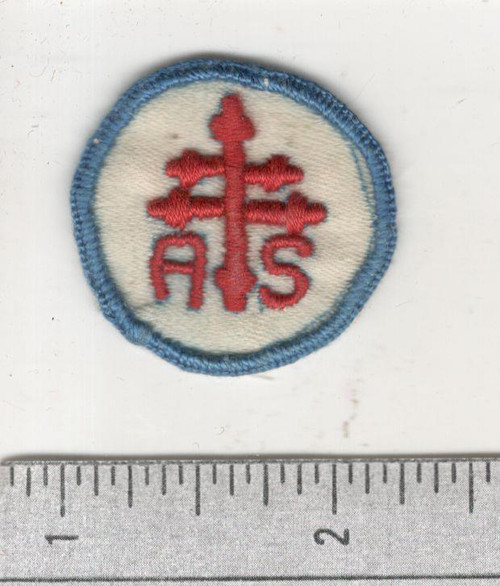 WW 1 US Army Advanced Section Services Of Supply Quartermaster Cap Patch Inv# W650
