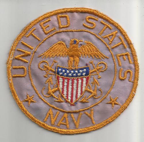 """4"""" WW 2 US Navy Silk BX Patch Inv# W336"""