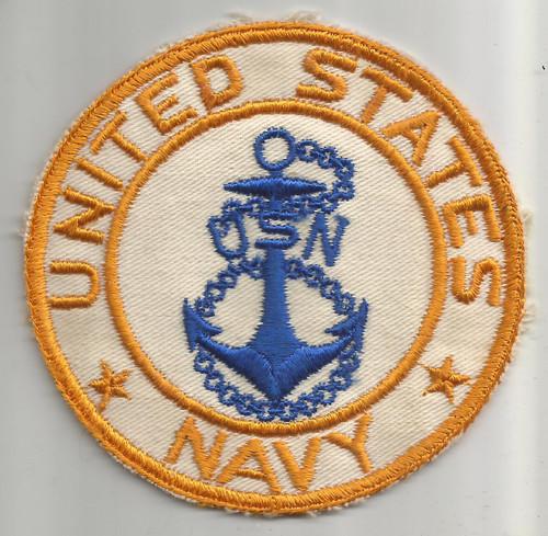 """4"""" WW 2 US Navy Twill BX Patch Inv# W341"""