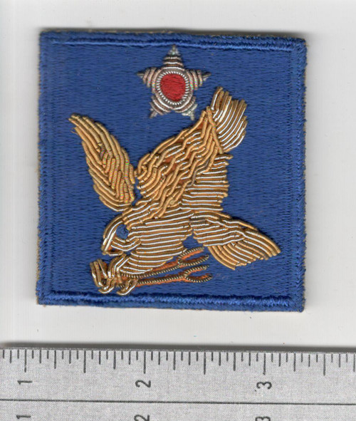 Bullion WW 2 US Army 2nd Air Force Patch Inv# S368