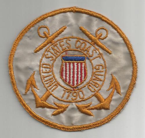 """4"""" WW 2 US Coast Guard Silk BX Patch Inv# W343"""