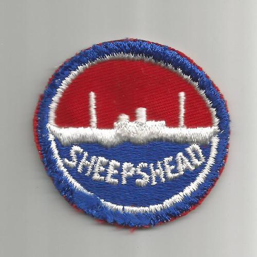 """WW 2 US Navy Sheepshead Bay 2-1/4"""" Patch Inv# W354"""
