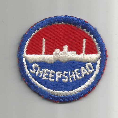 """WW 2 US Navy Sheepshead Bay 2-1/4"""" Patch Inv# W356"""