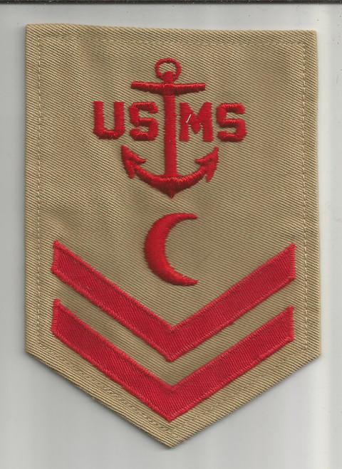 WW 2 USMS Merchant Marine 2nd Class Petty Officer Baker / Cook Patch Inv# W391