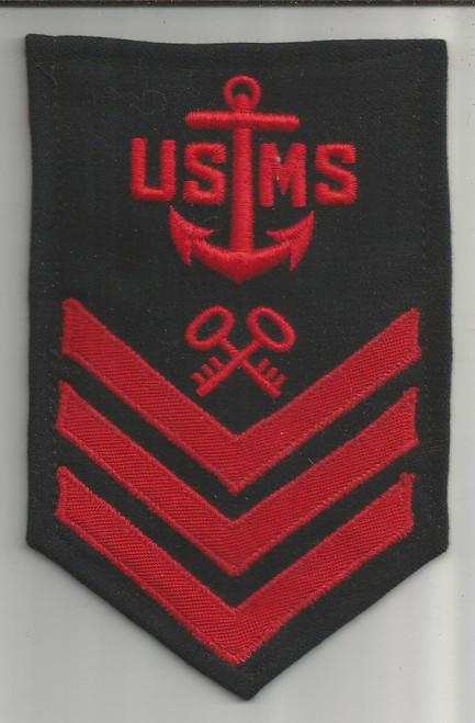 WW 2 USMS Merchant Marine 1st Class Petty Officer Storekeeper Patch Inv# W395