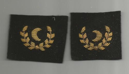 1 Pair of WW 2 USMS Merchant Marine Officers Steward Cuff Marks Inv# W405
