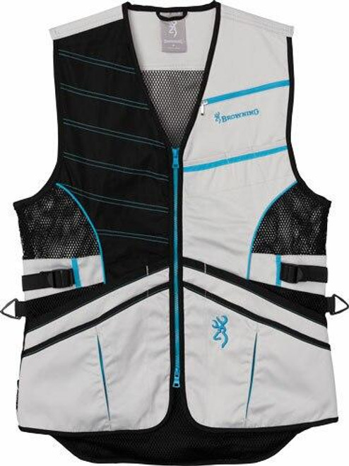 Browning Bg Ace Shooting Vest Womens - X-small Teal For Her