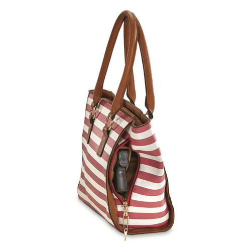 Bulldog Bulldog Concealed Carry Purse - Tote Style Navy Stripe