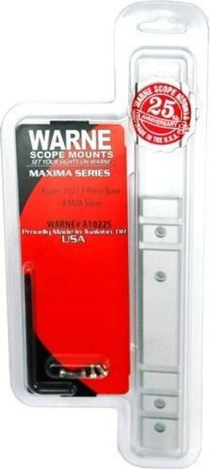 Warne Scope Mounts Warne Base Aluminum Maxima 1pc - Ruger 10/22 10moa Silver