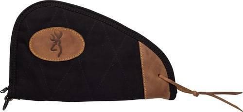 Browning Bg Lona Canvas Pistol Case 11 - Black/brown Trim