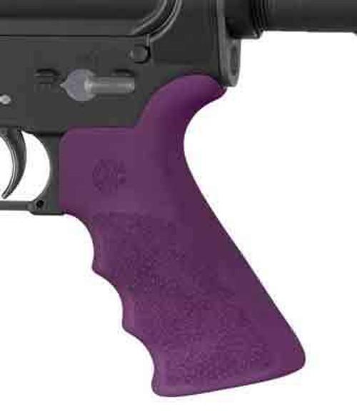 Hogue Hogue Ar-15 Beavertail Grip - W/finger Grooves Purple