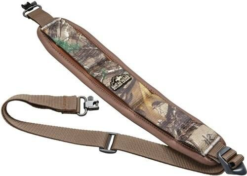 Butler Cr. Stretch Rifle Sling - Neoprene Rtx Camo W/ Swivel Justice Tactical