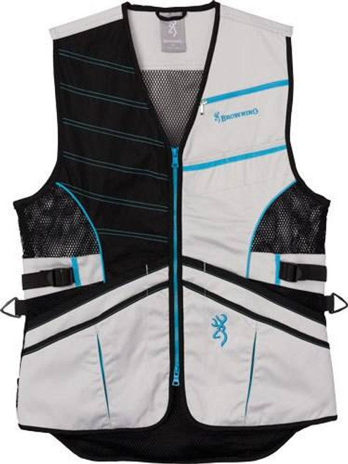 Browning Bg Ace Shooting Vest Womens - Medium Teal For Her
