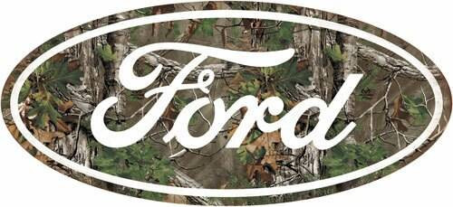 Open Road Brands Open Road Brands Die Cut Emb - Tin Sign Ford Camo Logo