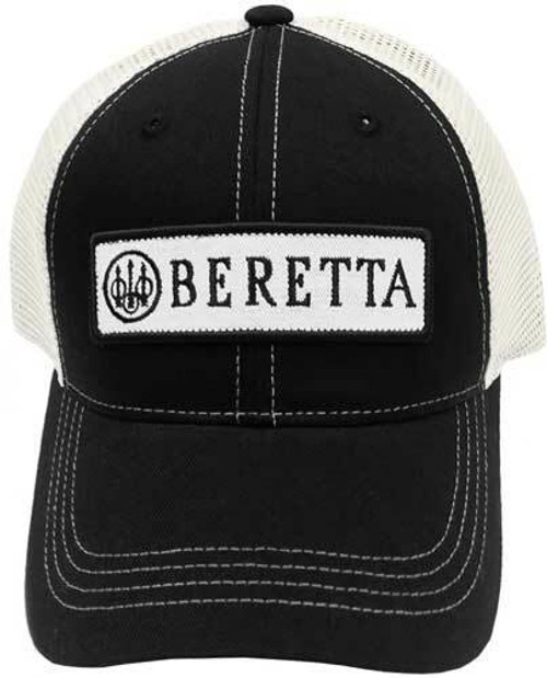 Beretta Beretta Cap Trucker W/patch - Cotton Mesh Back Black