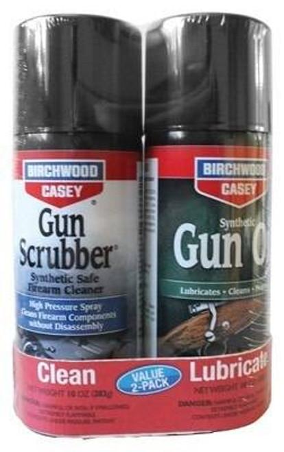 Birchwood Casey B/c Gun Scrubber and Synthetic - Gun Oil 10oz Value Pack Kit