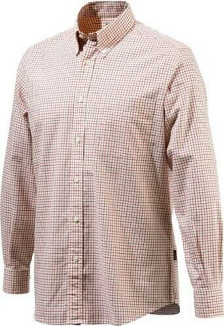 Beretta Special Purchase Beretta Mens Classic Drip Dry - Shirt Beige/red Check Mediumless