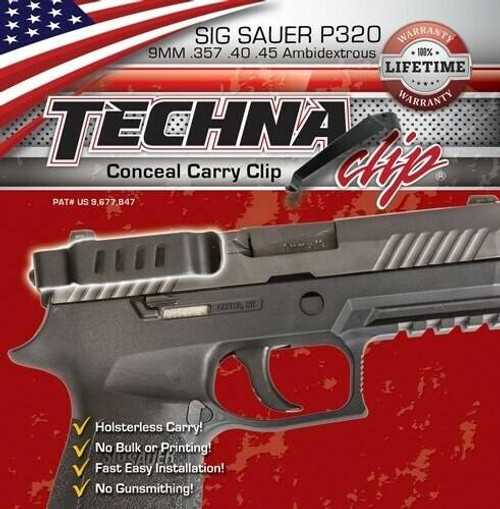 Techna Clips Techna Clip Handgun Retention - Clip Sig Sauer P320 Right