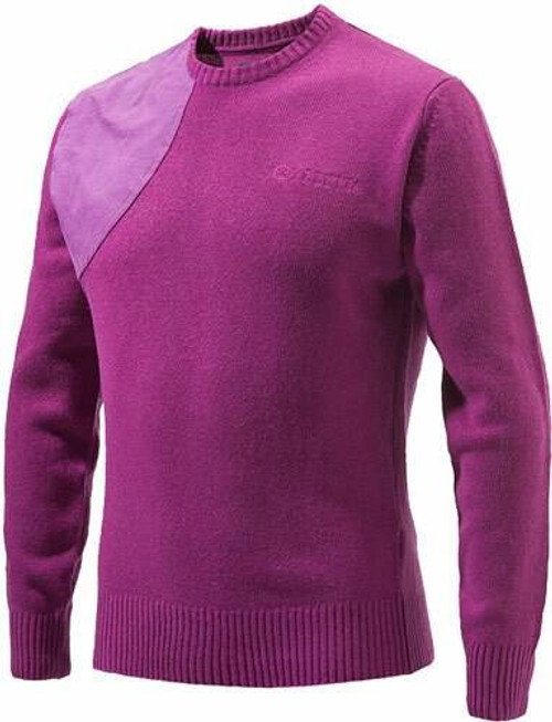 Beretta Special Purchase Beretta Mens Classic Round - Neck Sweater Violet Xx-largeless