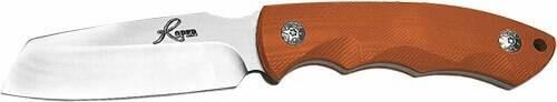 American Buffalo Knife and Tool Abkt Roper Razor 3 Fixed Blde - Orange G10 Handle W/sheath