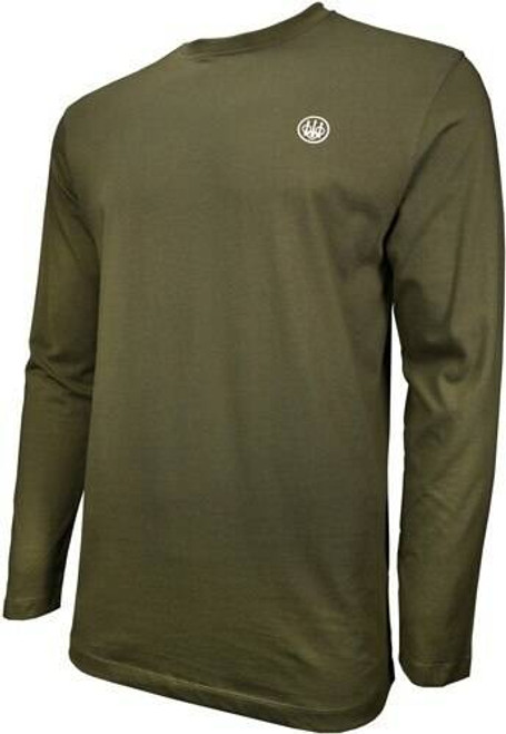 Beretta Beretta T-shirt Long Sleeve - Usa Logo Large Od Green