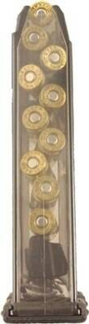 Elite Tactical Systems Group Ets Magazine Glock 17 9mm 10rd - Translucent Fits 17/19/26/34