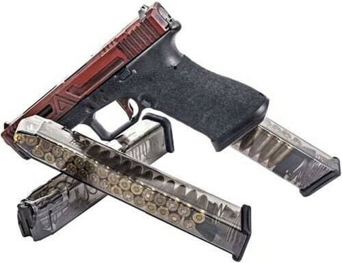 Elite Tactical Systems Group Ets Magazine Glock 18 9mm 31rd - Translucent Fits 17/19/26/34